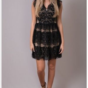 Size small little black lace dress